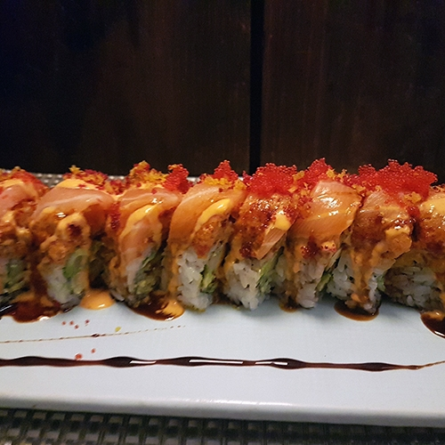 Spicy Salmon Dragon Roll 2